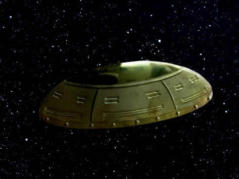 Deep Space Travel, Brass UFO by Brent Berry